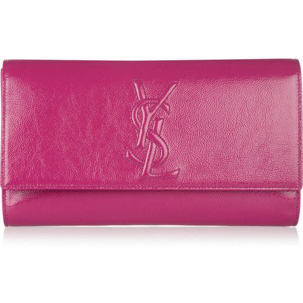 443daf9f4adf Yves Saint Laurent Belle de Jour Large patent-leather clutch ( 645) ❤ liked