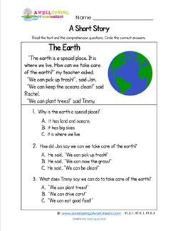 Grade Level Worksheets | انجلش | Reading comprehension ...