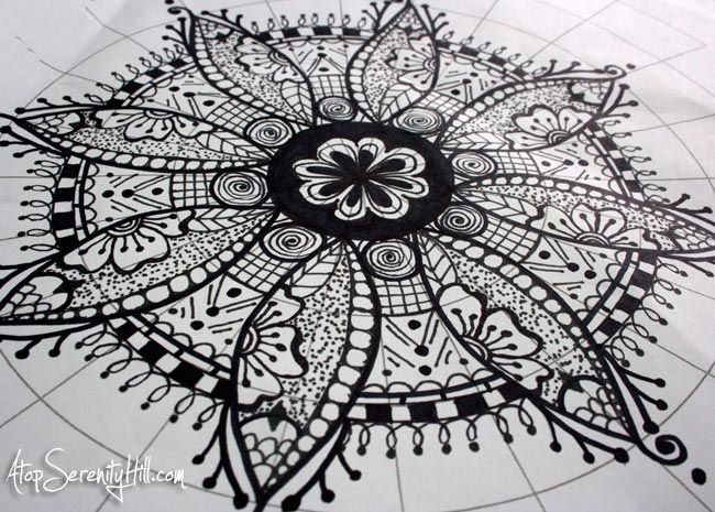 A Peek Inside: My Sketchbook Mandalas | Graph Paper, Markers And