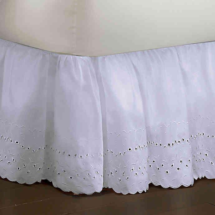 Smootheweave Ruffled Eyelet Bed Skirt Bedskirt Dust Ruffle