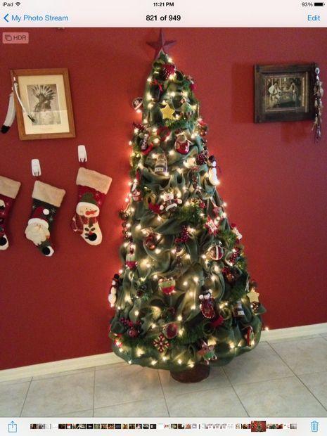 My Burlap Christmas Tree Western Style Cowboy Christmas Ideas