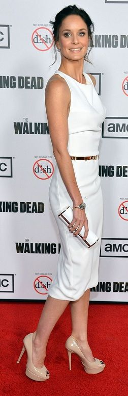 Sarah Wayne Callies in a perfect white dress