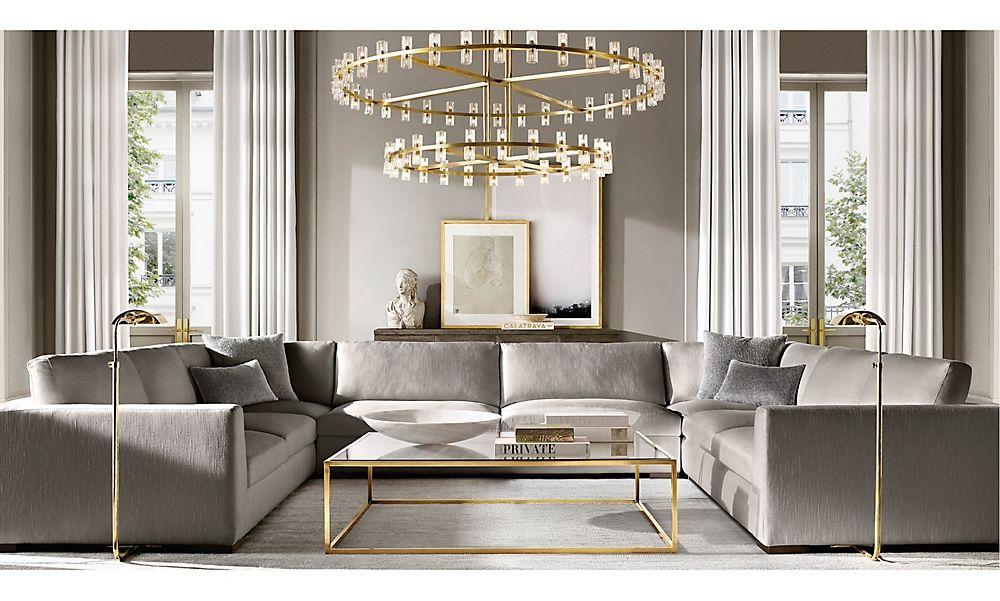 Rooms Rh Modern In 2020 Gold Living Room Decor Rh Living Room Restoration Hardware Living Room