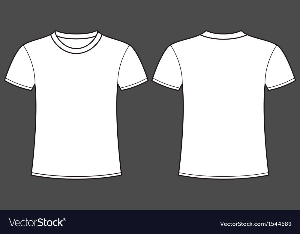 Download Blank T Shirt Template Front And Back Royalty Free Vector Ad Template Shirt Blank Front Ad Free T Shirt Design Shirt Template Plain Black T Shirt