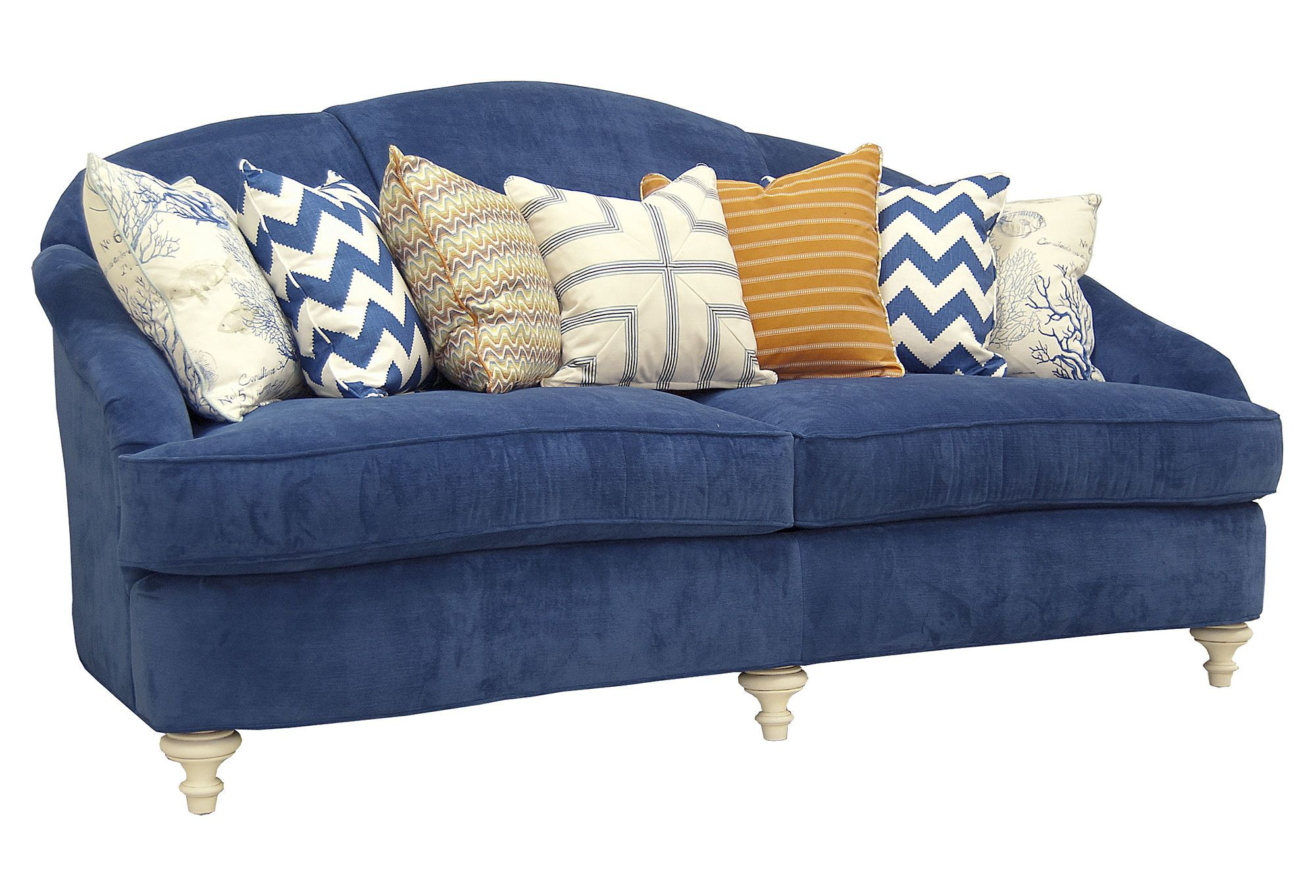 Navy Couch And Throw Pillows Decor Coastal Living Rooms