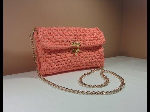 Easy DIY Crochet Stylish Chain Bag   Purse   Envelope Handbag made with . a4d4ced422300