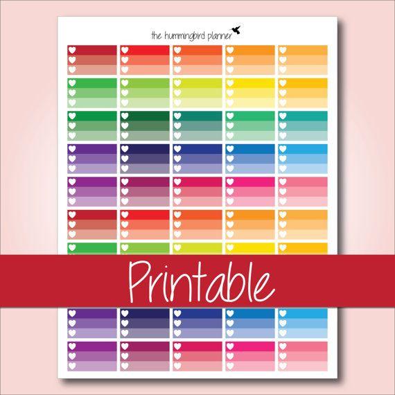 Free Printable Half Box Stickers Google Search Planner