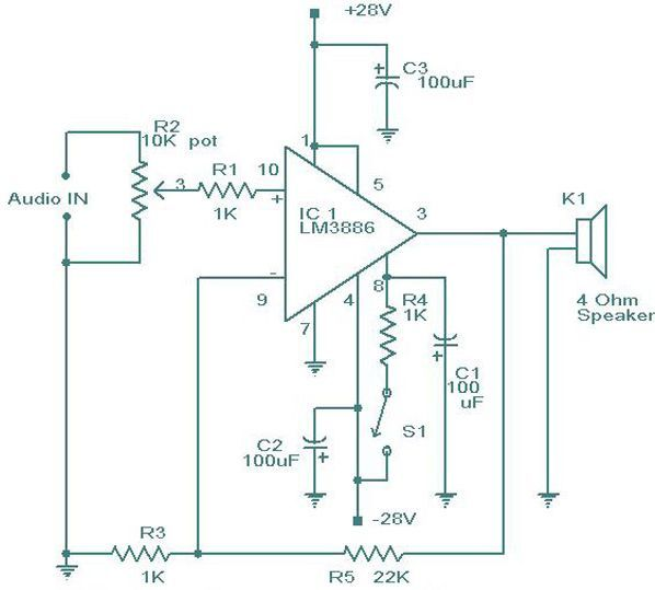 Lm 3886 amplifier circuit diagram electrical electronics lm 3886 amplifier circuit diagram publicscrutiny