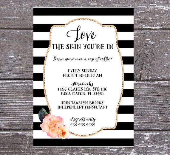 Business Event Invitation Beauty Skin Care by PartyPrincipessa - Business Event Invitation