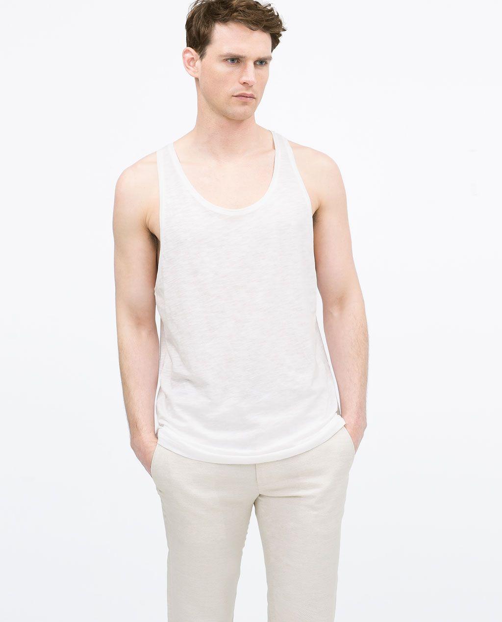 ZARA - MAN - Cotton tank-top | Zara man |