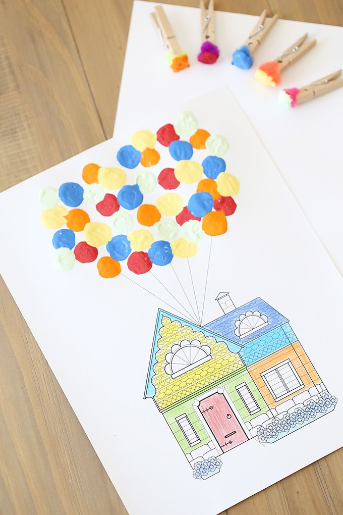 Disney: Pixar UP Printable and Craft for Kids - See Vanessa Craft #disneycrafts
