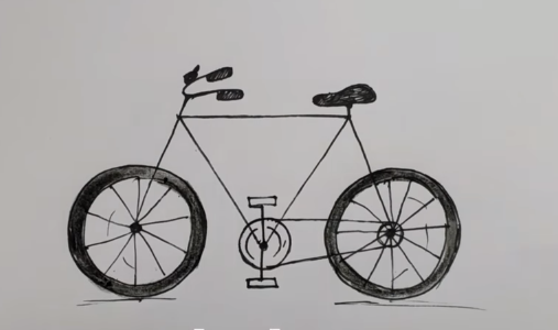 How To Draw A Bicycle Easy Step By Step For Kids Easy Drawings