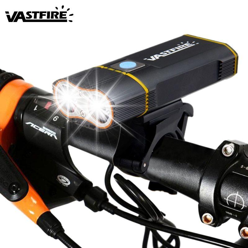 Front Bike Headlight L2 Led Bike Lights 6000 Lm Usb Rechargeable