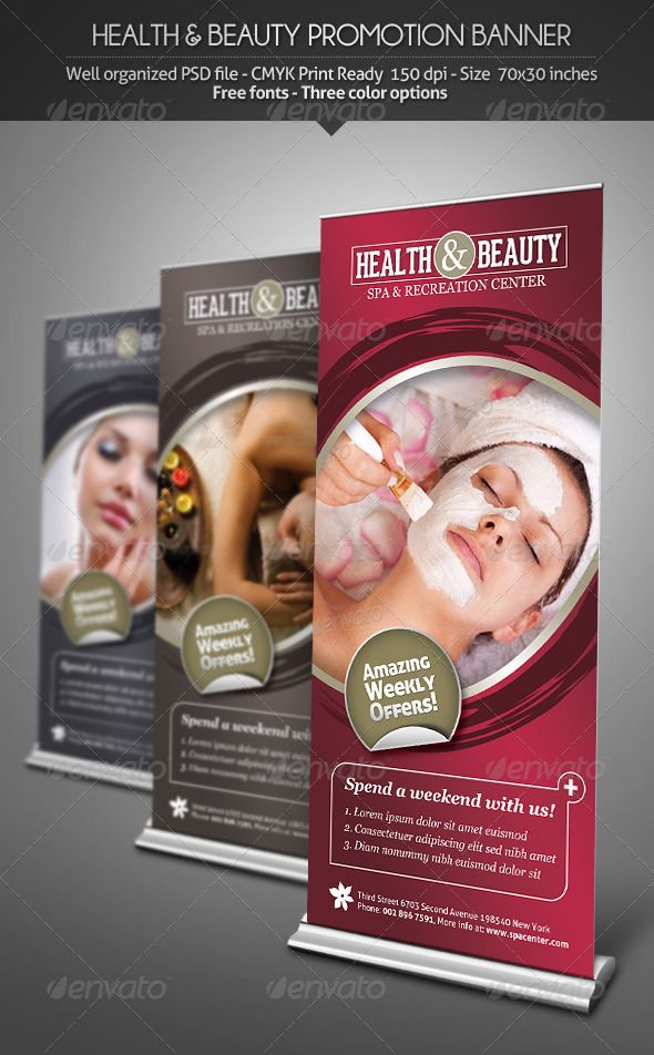Health  Beauty  Promotion Banner  Print Templates Signage And