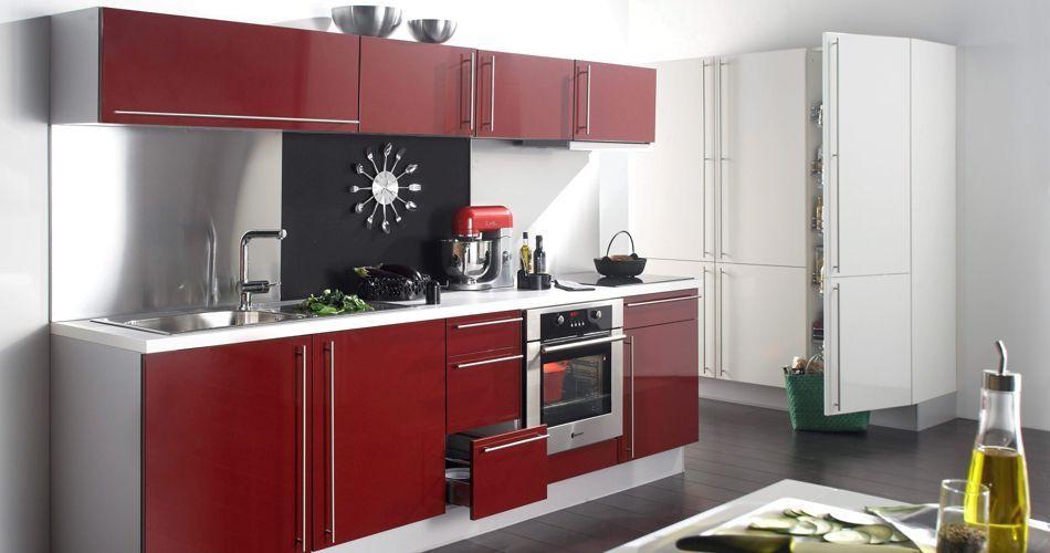 Cuisine Design Nuance bricolage Pinterest - Photo Cuisine Rouge Et Grise