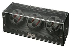 Diplomat 31-477  Black Wood Finish Six Watch Winder with Black Carbon Fiber Interior and Japanese Mabuchi Motor  Watch Winder Diplomat. $320.00. AC Adapter Included/Also works with batteries. Very Quiet Japanese Mabuchi Motors. Black Leather Interior. 1 Year Manufacturer Warranty Included. High Gloss Black Wood Finish. Save 47% Off!