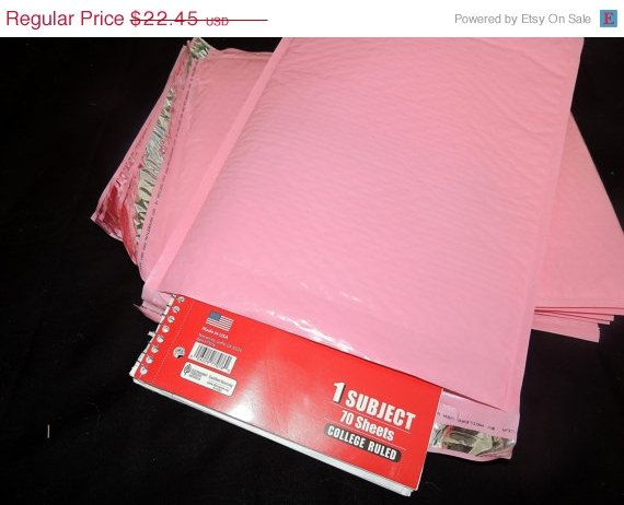 Sale 30 Large Pastel Pink  Bubble Mailers Size5 by wrappingmeup, $21.33