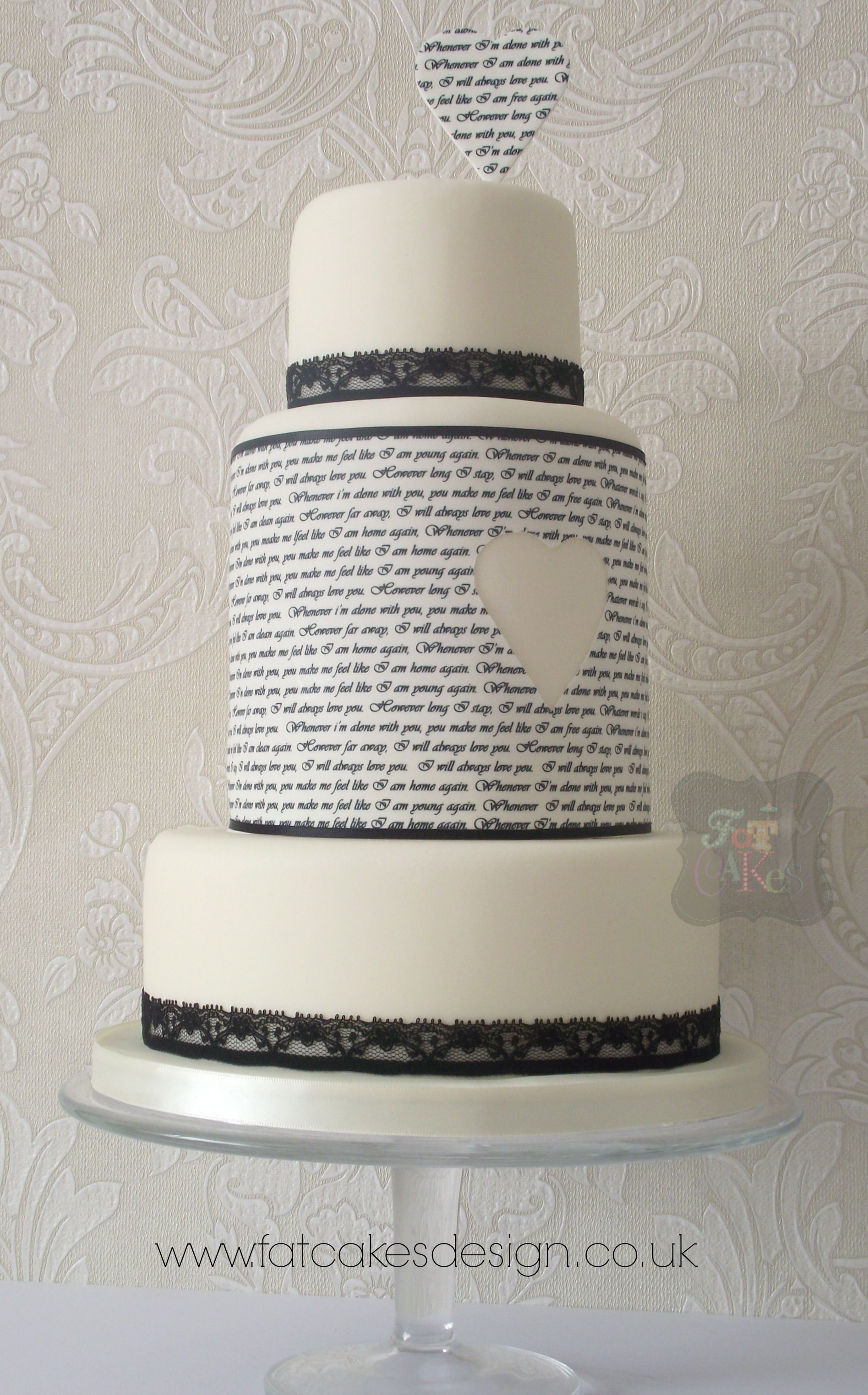 Cool Quirky Text Wedding Cake With Cutaway Heart A Great Way To Funny Birthday Cards Online Fluifree Goldxyz