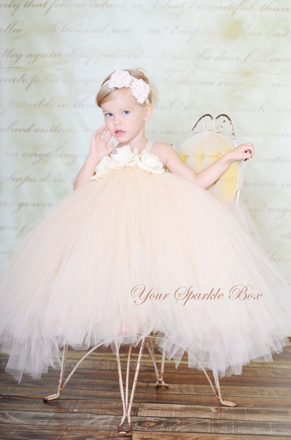 e908eff80a99 The Wedding Collection Tutu Dress in Champagne by YourSparkleBox, $99.95