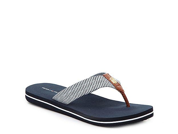 a101e12b1 Women Carsun Flip Flop -Light Blue Navy Stripes