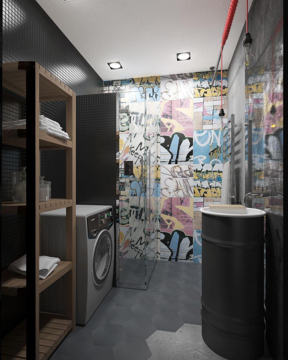Лофт для холостяка в панельном доме: проект в Крылатском ...
