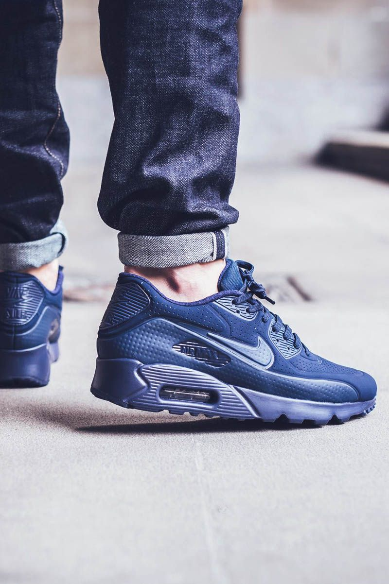 Midnight Navy Air Max 90 Ultra Moire | Nike shoes, Nike