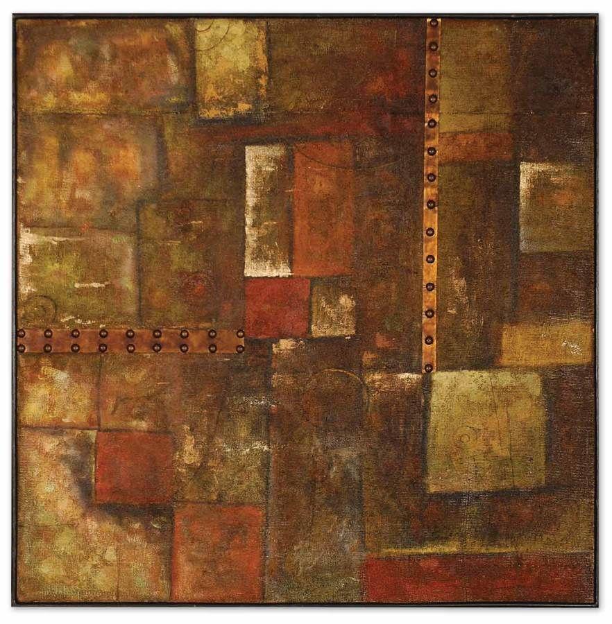 Uttermost autumn blocks modern wall art features a hand painted oil