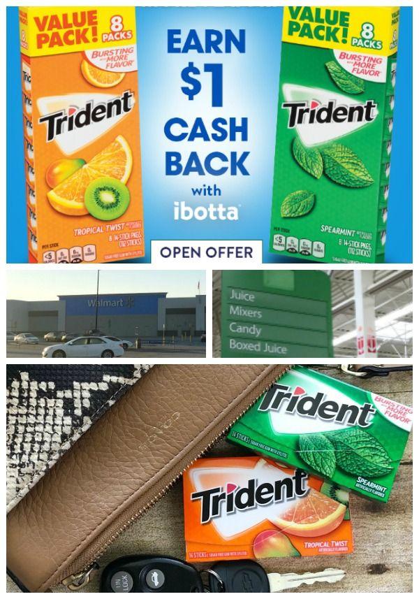 HOT DEAL ALERT! Trident+Ibotta Deal at Walmart going on