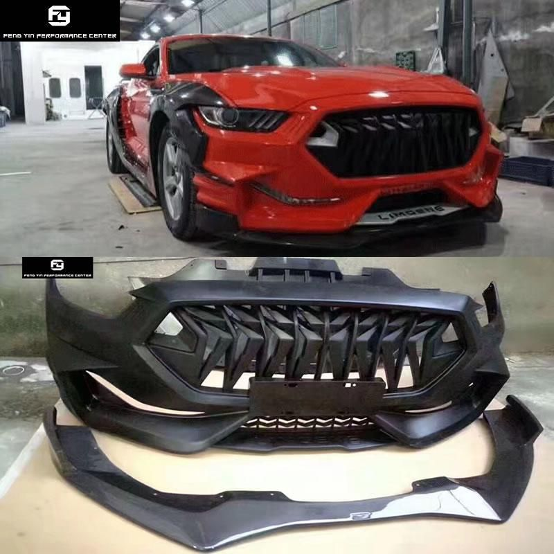 Wide Car Body Kit Frp Unpainted Front Bumper Carbon Fiber Front Lip Us 1655 99 Ford Mustang Car Mustang Body Kit Ford Mustang