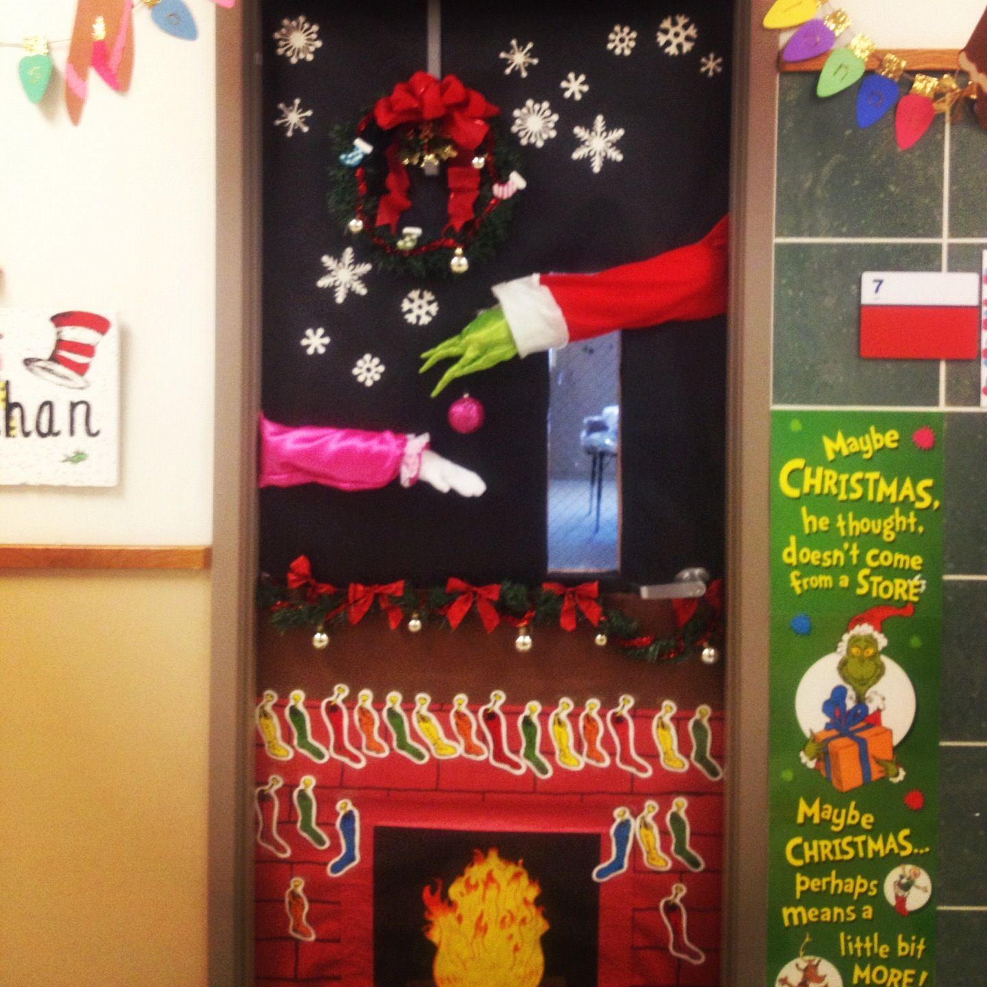 My Christmas door... The grinch | Christmas door ...