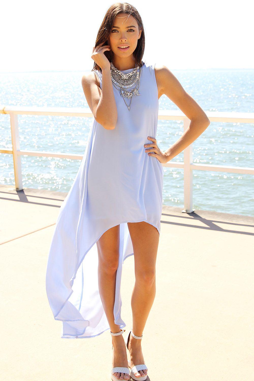 Long Tail Dress - Blue