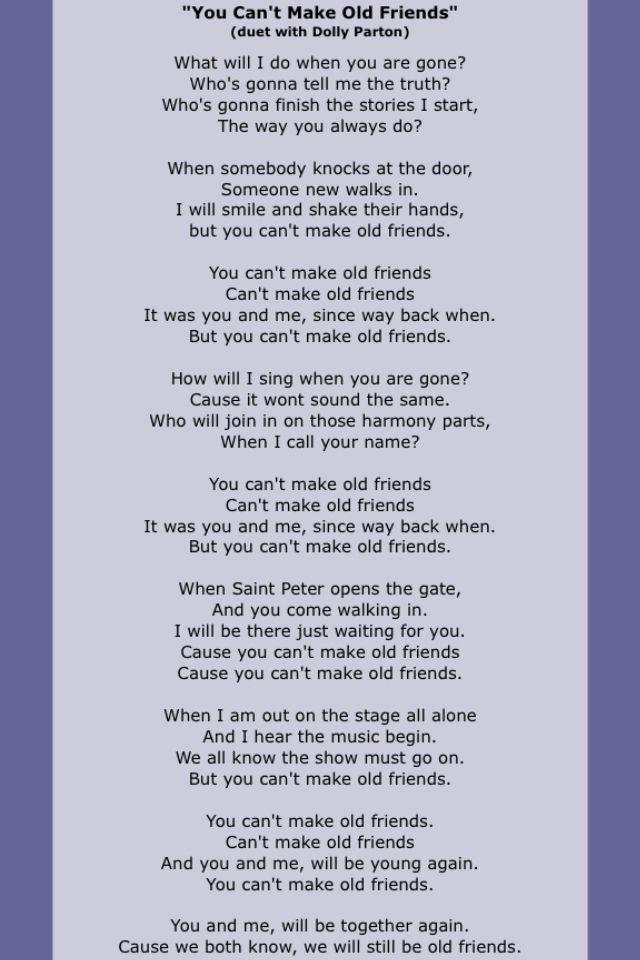 Lyric alison krauss living prayer lyrics : You Can't Make Old Friends-Kenny Rogers & Dolly Parton | Dolly ...