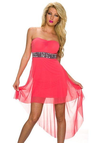 4bf7e55d vestido color coral con cola 29.90€   Monos   Vestidos boda baratos ...