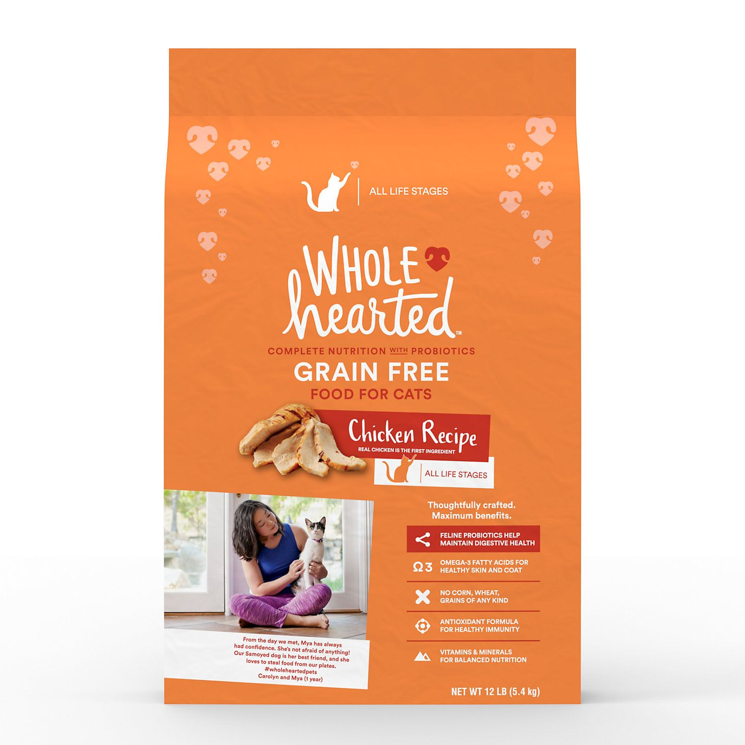 Wholehearted Grain Free Chicken Formula Dry Cat Food 12 Lbs Petco Dry Cat Food Cat Food Free Chickens