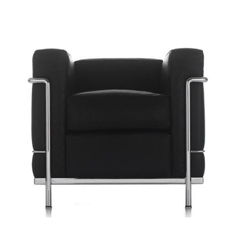 #sale LC2 Petit Confort Club Chair - SALE $3,284 Le Corbusier, Perriand, Jeanneret Cassina, Italy 1928 The LC2 Petit Confort Club Chair (Fauteuil Grand Confort, petit modèle) was originally designed as seating for the Villa Church in 1928 with production beginning in 1965 through Cassina. The LC2 seating series, along with the more generously proportioned LC3 seating group, includes a club chair along with two-seat and three-seat sofas.