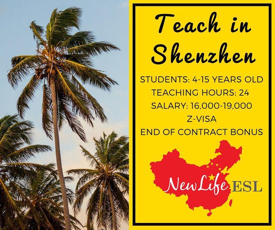 Teach English in Shenzhen, China! NEED degree, TEFL, 2