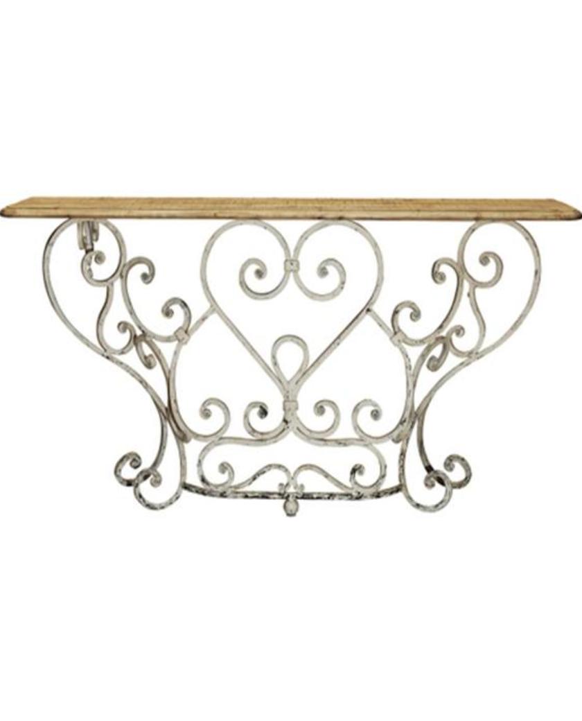Wonderful Hall Table   A Gorgeous Wrought Iron U2013 Allissias Attic U0026 Vintage French  Style