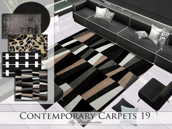 Contemporary Carpets 19 by Pralinesims - Sims 3 Downloads CC Caboodle