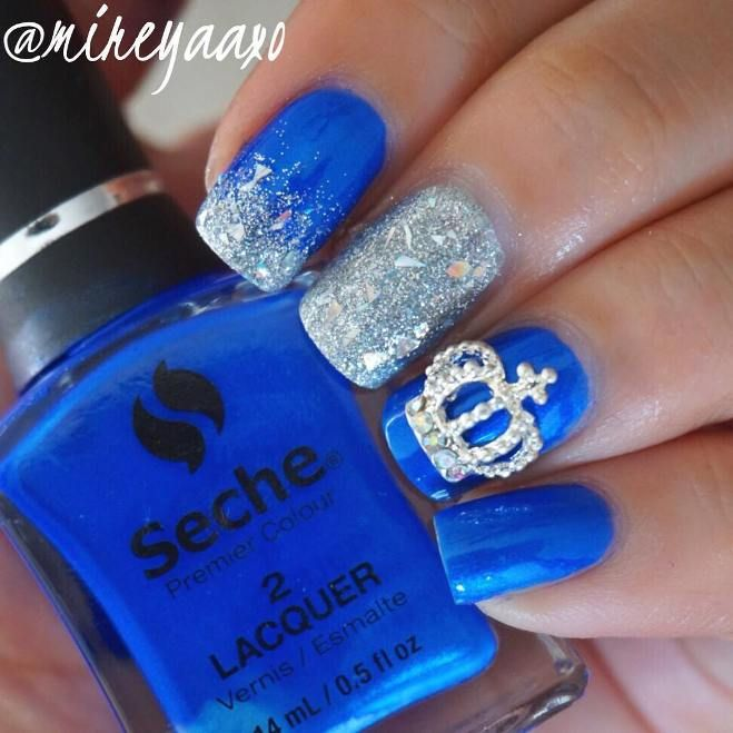 Experience The Glamorous Style Of Royal Blue Nail Designs Be Modish Blue Wedding Nails Royal Blue Nails Blue Nail Designs