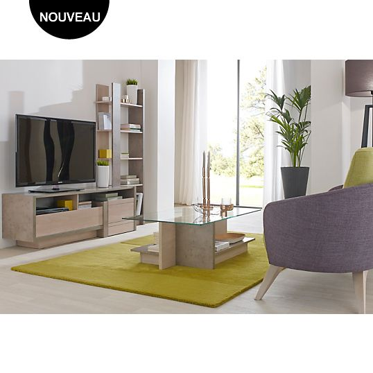 Ensemble table basse et meuble tv guizmo camif table basse camif camif ensemble table - Table basse camif ...