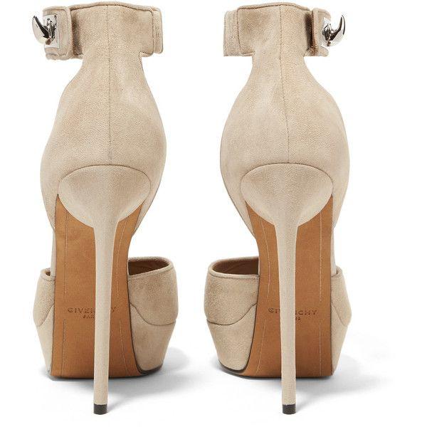 95b47961208 Givenchy Shark Lock suede platform sandals ( 1