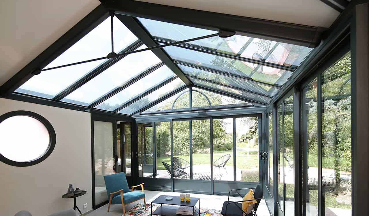 Véranda style atelier - véranda alu - Rénoval en 2020   Veranda alu, Maison style, Veranda