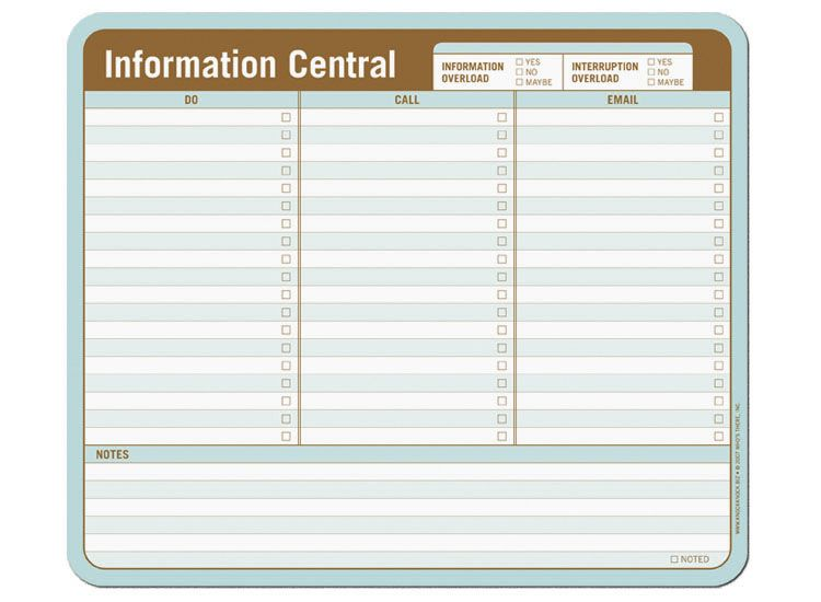 Information Central Paper Mousepad Mousepad, Knock knock and - office supplies inventory