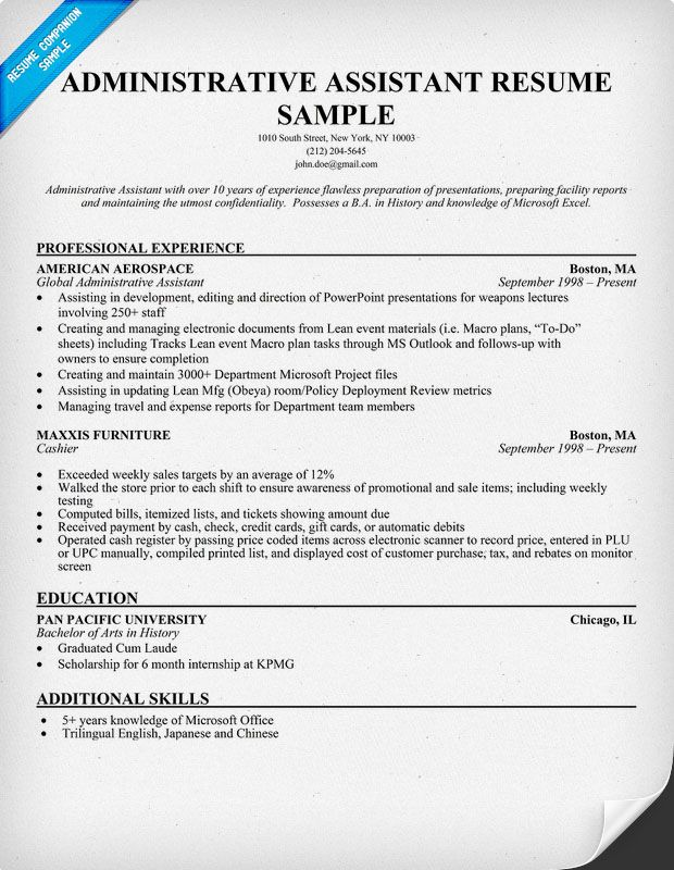 sample administrative assistant resume pictures pin pinterest - sample medical receptionist resume