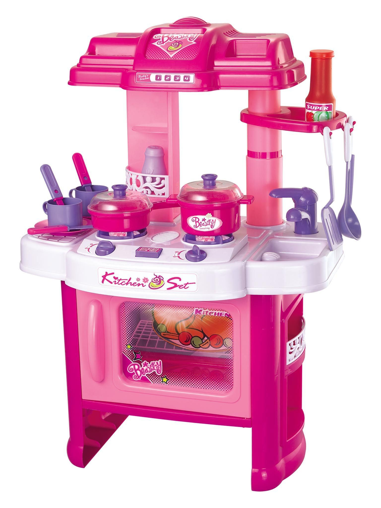 Plastic Play Kitchen berry toys br008-26 fun cooking plastic play kitchen - pink | products