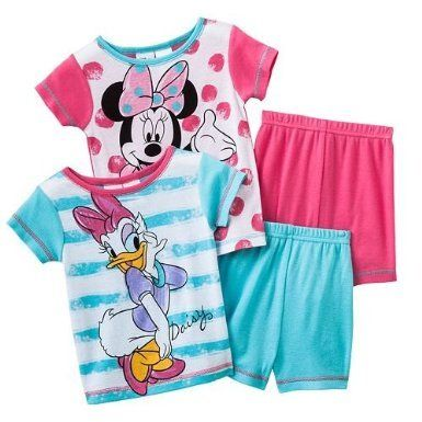 bf80d708c Minnie Mouse   Daisy Toddler Girls 4 Pc Cotton Sleepwear Set ...