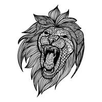 Intricate lion design