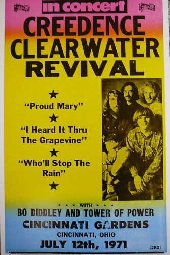 Creedence Clearwater Revival Concert Poster in 2019 | Creedence
