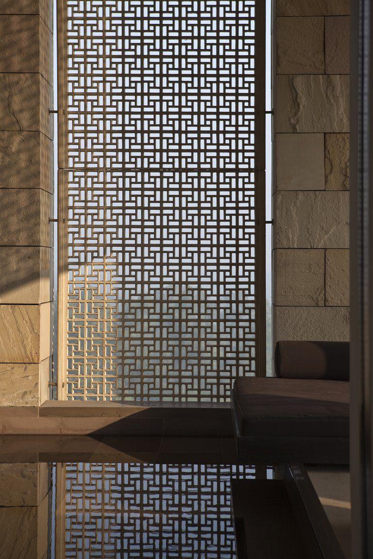 aman hotel delhi pinned to garden design walls fences screens by darin bradbury