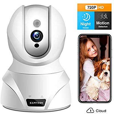 Überwachungskamera WLAN Nachtsicht mit iOS Android App für Haus//Büro//Baby